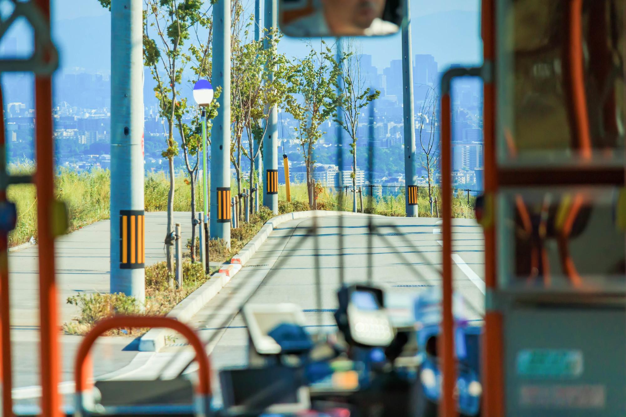 路線バスに乗っているときの写真です。