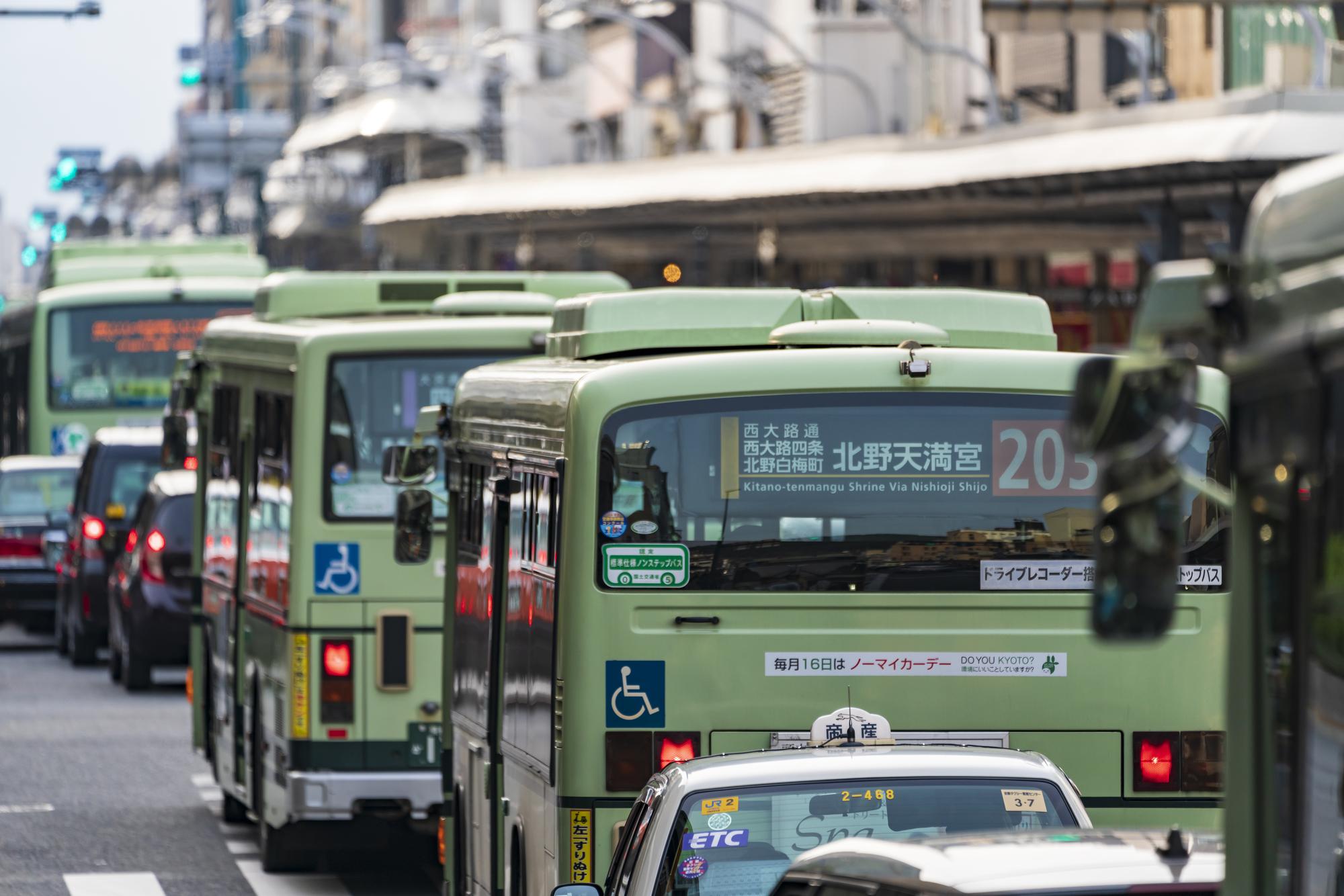 市内路線バスの写真です。