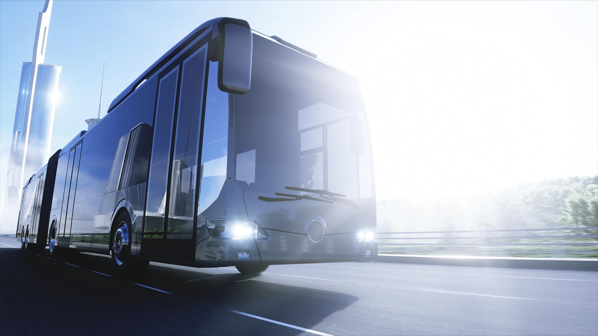 未来の旅客バスの写真です。